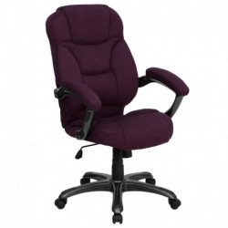 MFO High Back Grape Microfiber Upholstered Contemporary Office Chair