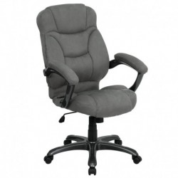 MFO High Back Gray Microfiber Upholstered Contemporary Office Chair