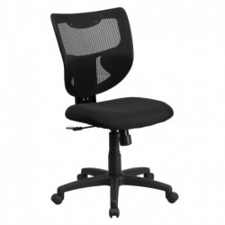MFO Galaxy Mid-Back Designer Back Task Chair with Padded Fabric Seat