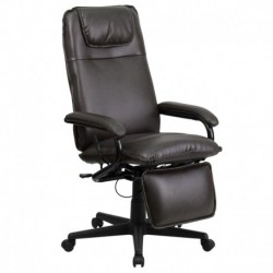 MFO High Back Brown Leather Executive Reclining Office Chair