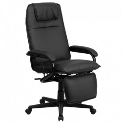 MFO High Back Black Leather Executive Reclining Office Chair