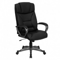 MFO High Back Black Leather Executive Office Chair
