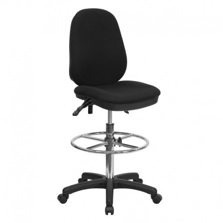 MFO Ergonomic Multi-Functional Triple Paddle Drafting Stool with Adjustable Foot Ring