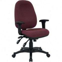 MFO Mid-Back Multi-Functional Burgundy Fabric Swivel Computer Chair