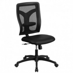MFO Galaxy High Back Designer Back Task Chair with Padded Leather Seat