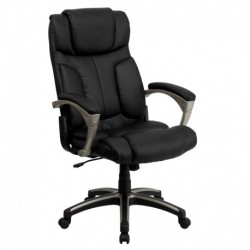 MFO High Back Folding Black Leather Executive Office Chair