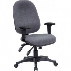 MFO Mid-Back Multi-Functional Gray Fabric Swivel Computer Chair