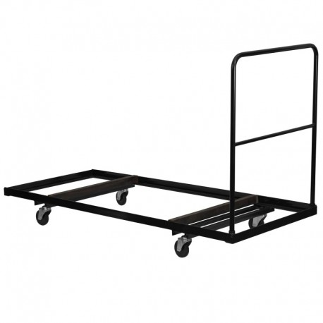 MFO Black Steel Folding Table Dolly for 30x72 Rectangular Folding Tables