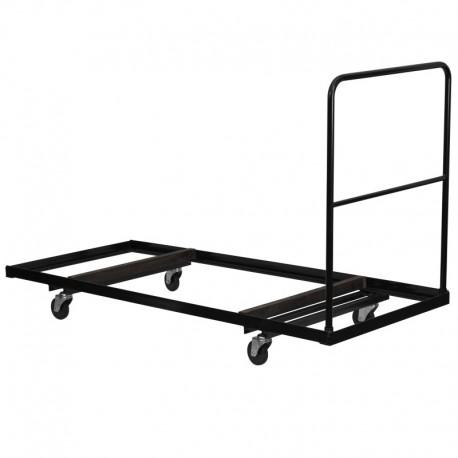 MFO Black Steel Folding Table Dolly for 30x72 Rectangular Folding Tables
