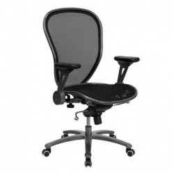 MFO Mid-Back Professional Super Mesh Chair Featuring Solid Metal Construction with Silver Vein Accents