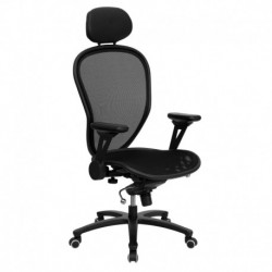 MFO High Back Professional Super Mesh Chair Featuring Solid Metal Construction with Black Accents