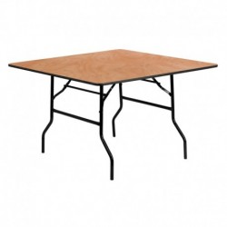MFO 48'' Square Wood Folding Banquet Table