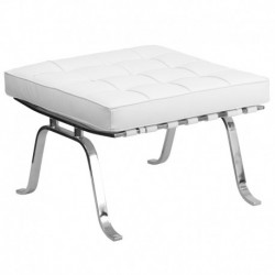 MFO Friendly Collection White Leather Ottoman