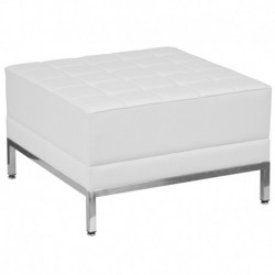 MFO Immaculate Collection White Leather Ottoman