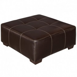 MFO Brown Leather Ottoman