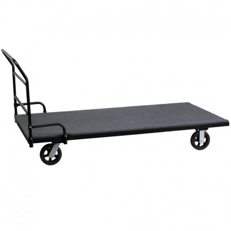 MFO Folding Table Dolly with Carpeted Platform for Rectangular Tables