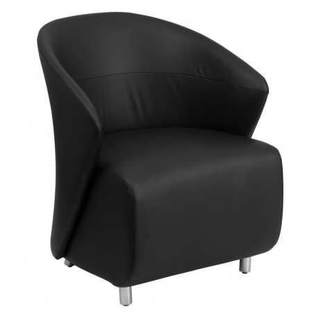 MFO Black Leather Reception Chair