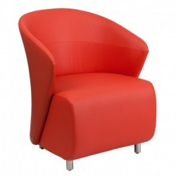 MFO Red Leather Reception Chair