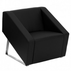 MFO Wonder Collection Black Leather Reception Chair