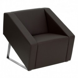 MFO Wonder Collection Brown Leather Reception Chair