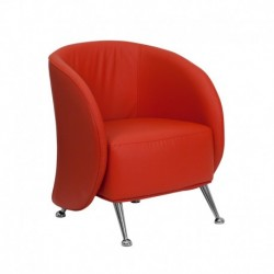 MFO Flight Collection Red Leather Reception Chair