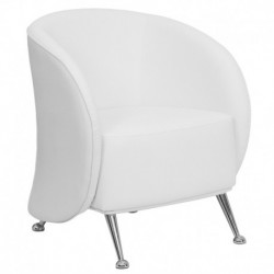 MFO Flight Collection White Leather Reception Chair