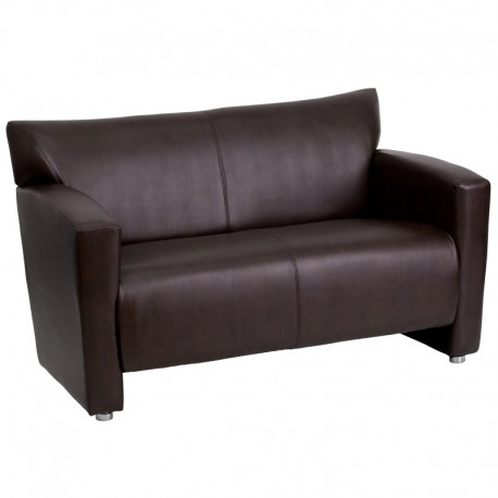 MFO Sage Collection Brown Leather Love Seat
