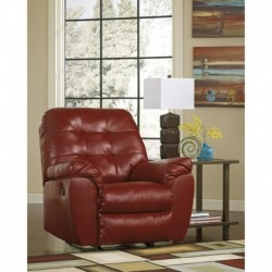 MFO Glamour Rocker Recliner in Salsa DuraBlend