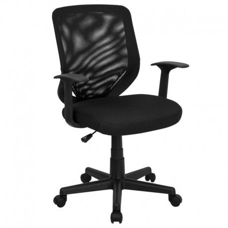 MFO Mid-Back Black Mesh Office Chair with Mesh Fabric Seat