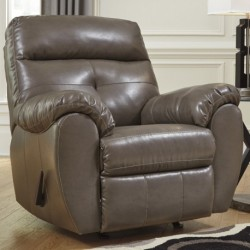 MFO Benchcraft Glamour Rocker Recliner in Steel DuraBlend
