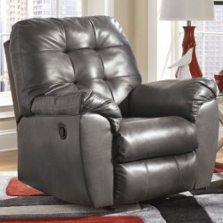 MFO Glamour Rocker Recliner in Gray DuraBlend