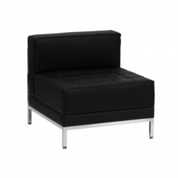 MFO Immaculate Collection Contemporary Black Leather Middle Chair