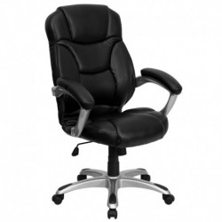 MFO High Back Black Leather Contemporary Office Chair