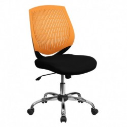 MFO Mid-Back Orange Designer Back Task Chair with Chrome Base