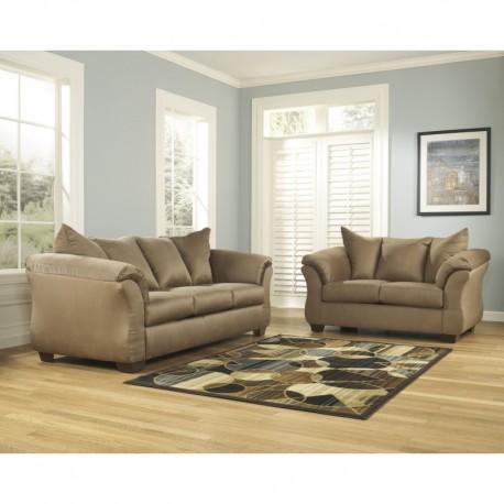 MFO Eliana Living Room Set in Mocha Fabric