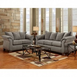 MFO Living Room Set in Sensations Grey Microfiber