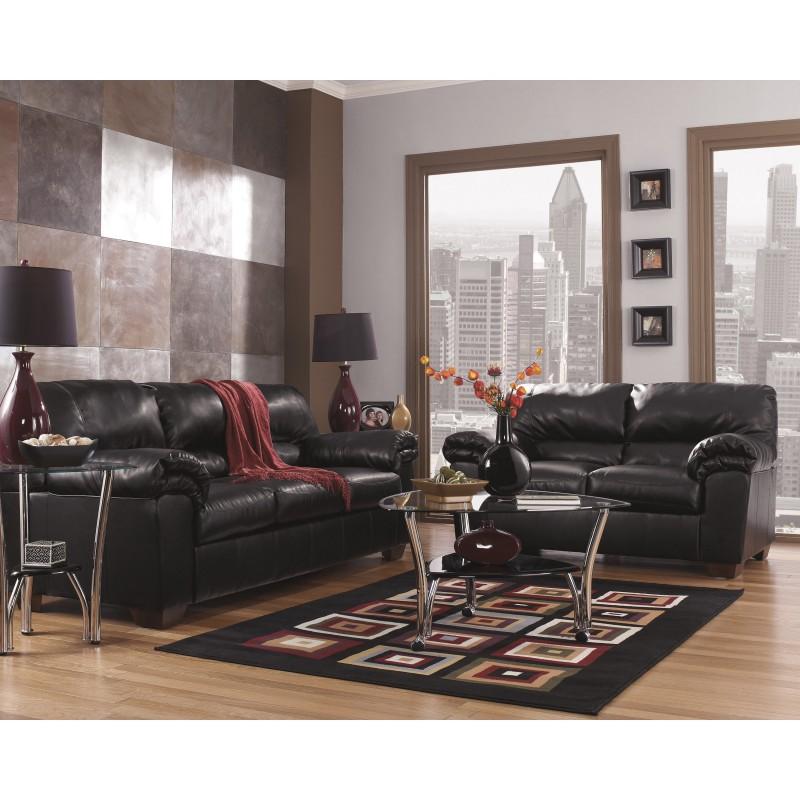 MFO Lisa Living Room Set in Black Leather