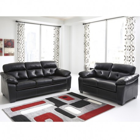 MFO Benchcraft Glamour Living Room Set in Midnight DuraBlend