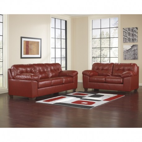 MFO Glamour Living Room Set in Salsa DuraBlend