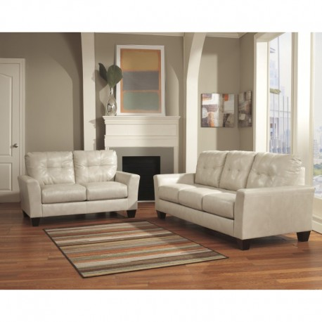 MFO Benchcraft Shine Living Room Set in Taupe DuraBlend