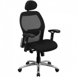 MFO High Back Super Mesh Office Chair with Black Fabric Seat and Knee Tilt Control