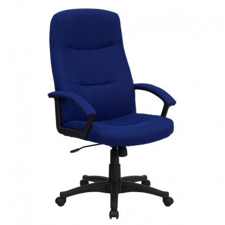 MFO High Back Navy Blue Fabric Executive Swivel Office Chair