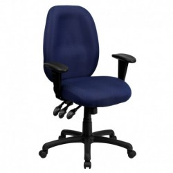 MFO High Back Navy Fabric Multi-Functional Ergonomic Task Chair with Arms