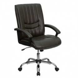 MFO Mid-Back Espresso Brown Leather Manager's Chair