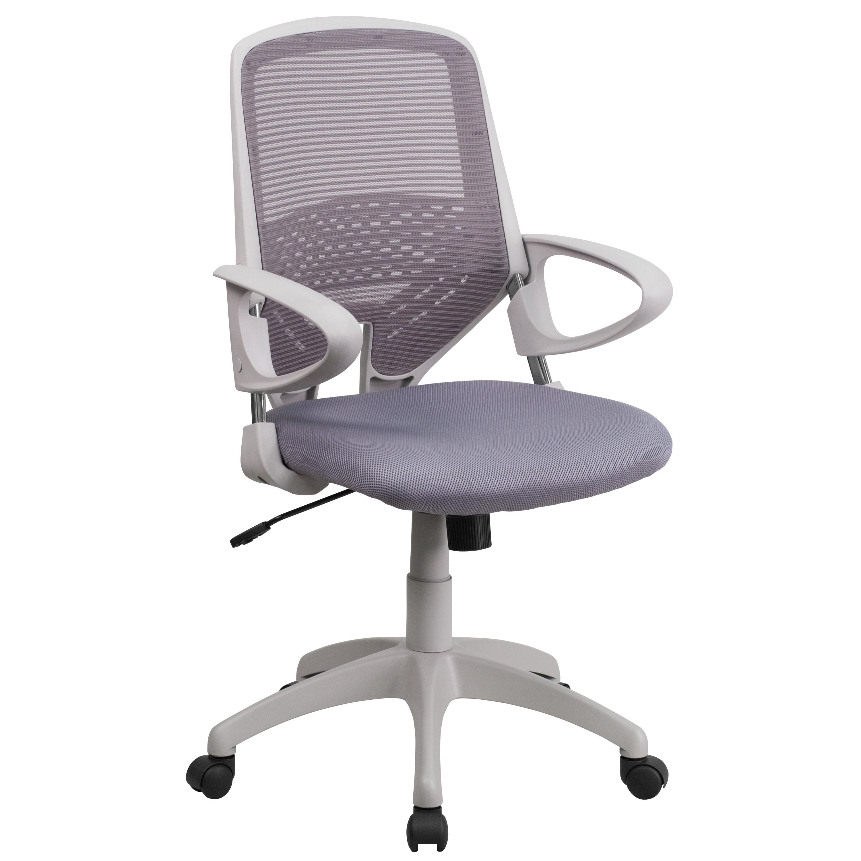 Mfo Mid Back Dark Gray Mesh Office Chair