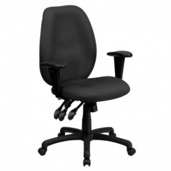 MFO High Back Gray Fabric Multi-Functional Ergonomic Task Chair with Arms
