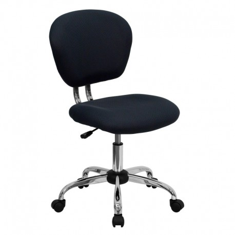 MFO Mid-Back Gray Mesh Task Chair with Chrome Base