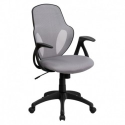 MFO Mid-Back Executive Gray Mesh Chair with Nylon Base
