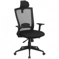 MFO High Back Black Mesh Chair with Back Angle Adjustment