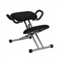 MFO Ergonomic Kneeling Chair in Black Fabric with Handles